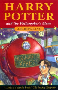 """U.K. version and English version book cover of the """"Harry Potter and the Sorcerer's Stone"""""""